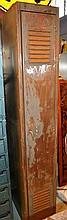 Vintage Brownbuilt steel personal locker, partial