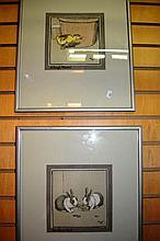 2 x vintage Cecil Aldin prints 'A tough morsel' &