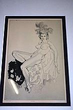 Norman Lindsay print 'Aloha', no. 191, plate 4,