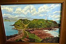 Artist unkown oil on canvas on board, showing Palm