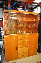 1950s Coachwood apothocary or shop display cabinet