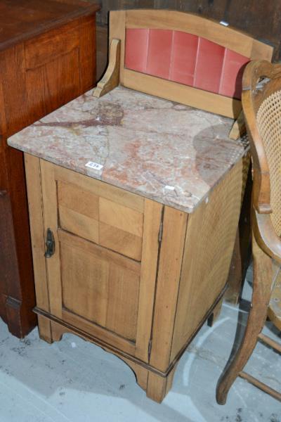 Early 20thc oak bachelors washstand Home bargains furniture uk