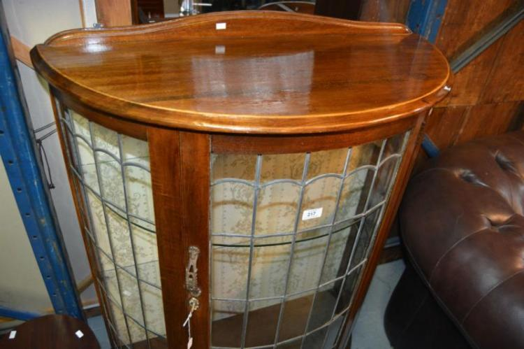 2 Items Incl A Bow Fronted Display Cabinet