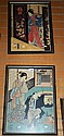 Pair of early Japanese prints, both re-strikes