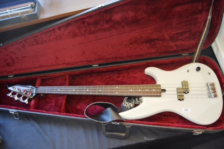 vintage yamaha electric bass guitar model rbx200 white bod. Black Bedroom Furniture Sets. Home Design Ideas