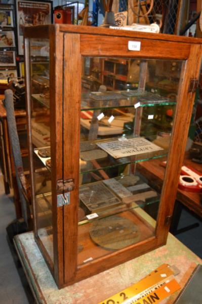 Vintage Countertop Display Cabinet
