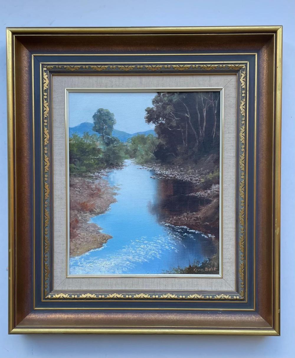 Kevin Best, Australian (1932-2012), My Favourite Place, (King Parrot Creek), oil on board
