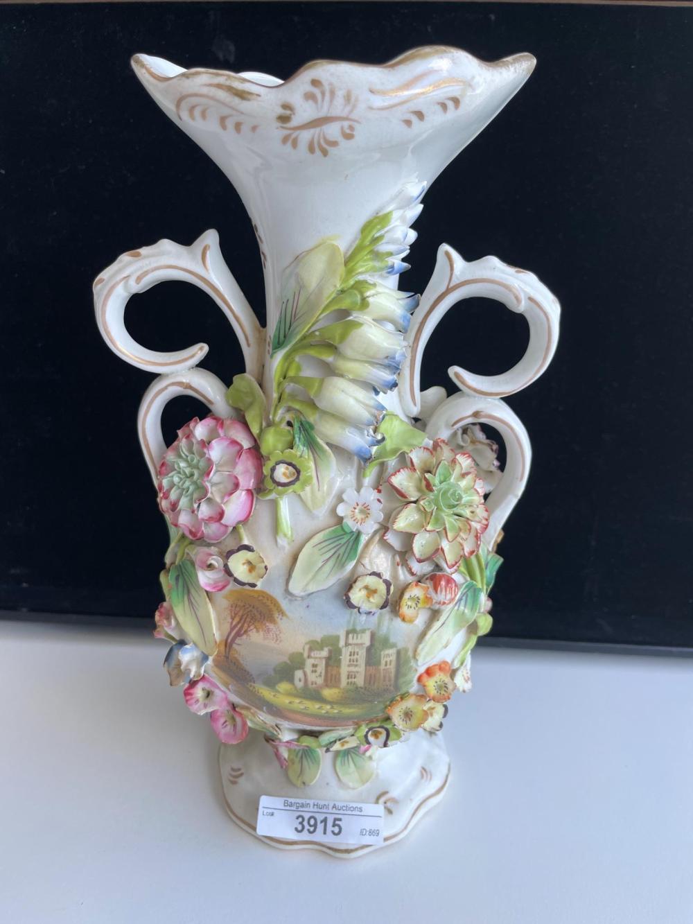 Early 19th Century European porcelain vase, 25.30 cm. (9.96 in.)