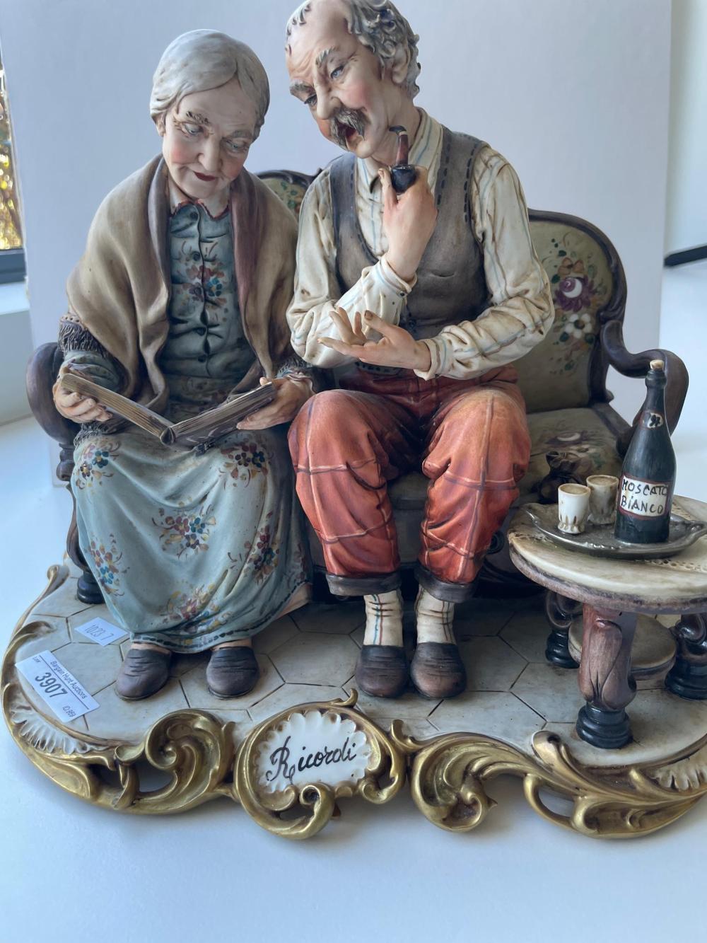 Italian Triade Benacchio porcelain figural group. 24 x 28 cm. (9.45 x 11.02 in.)