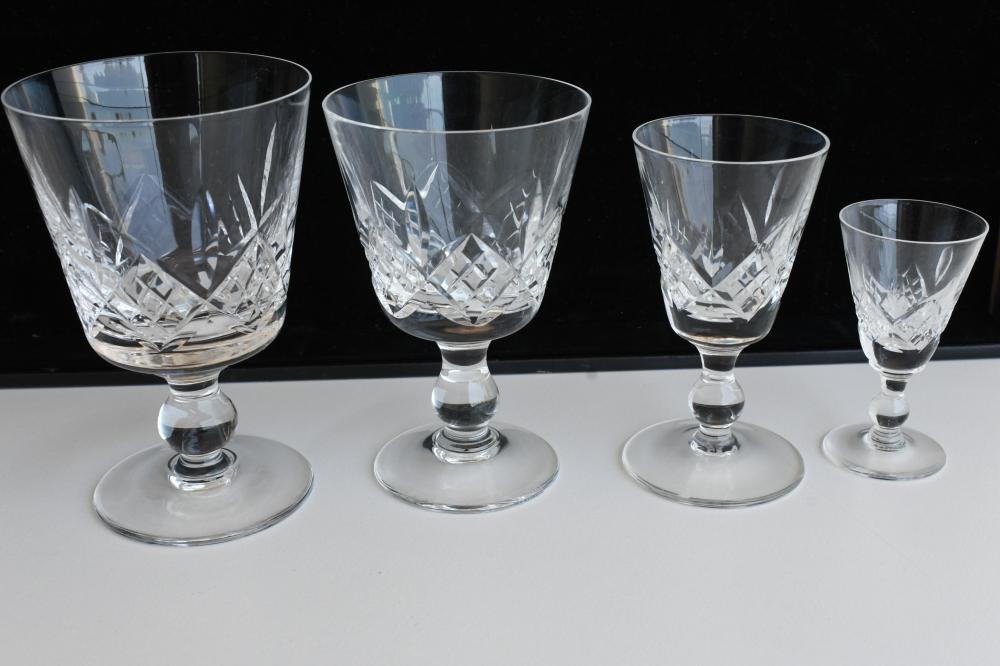 Part suite of 40 Stuart Crystal wine glasses