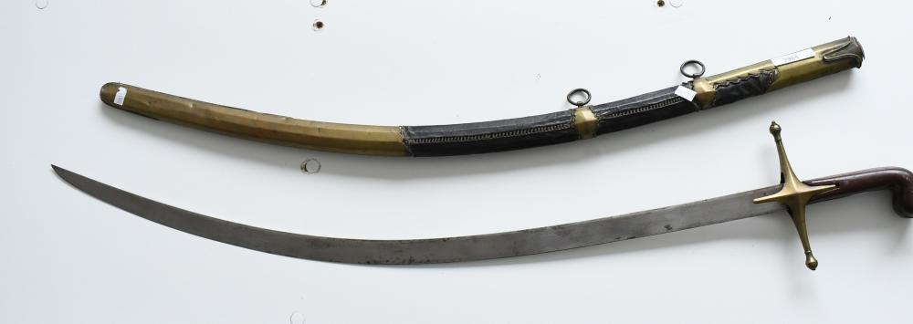 Antique Indo-Persian Talwar sword blade 80 cm. (31 1/2 in.), sword 93.50 cm. (36.81 in.)