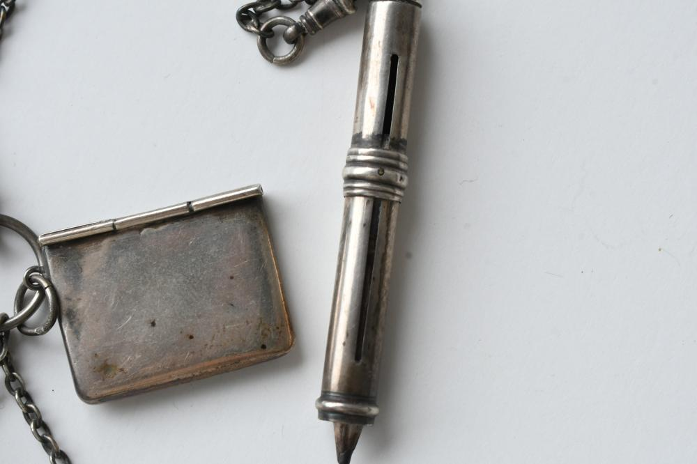 Ladies Antique sterling silver chatelaine