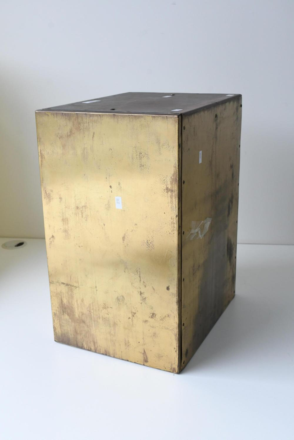 Vintage original brass tabernacle safe 43 x 33 x 26 cm. (16.93 x 12.99 x 10.24 in.)