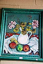 E. Picker oil on board, still life, signed lower