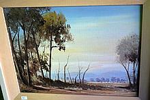 Artist unknown, oil on canvas board, Australian