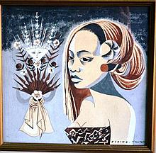 Elaine Haxton mixed media watercolour & gouache,