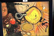 Ken Reinhard mixed media abstract 'Soul's return'