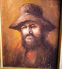 Aubrey Eden Stapleton, oil on board, portrait of a