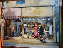 Francisco Sillue oil on canvas 'Window Shopping'