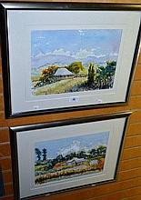 Henry Harrison, pair of watercolours, both of