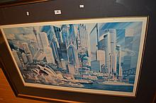 Charles Billich, lim/ed print, 'Sydney Silhouette'