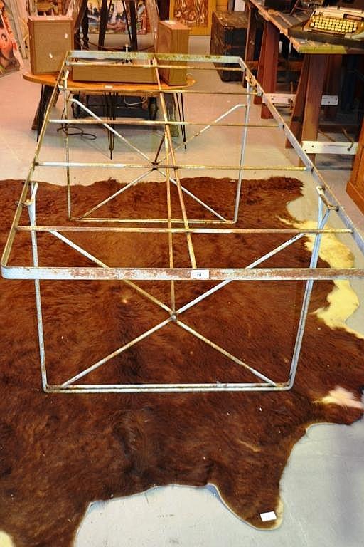 Industrial design dining table frame for Dining table frame design