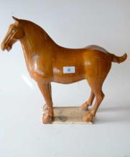 Chinese Straw Glazed Tang pottery horse,