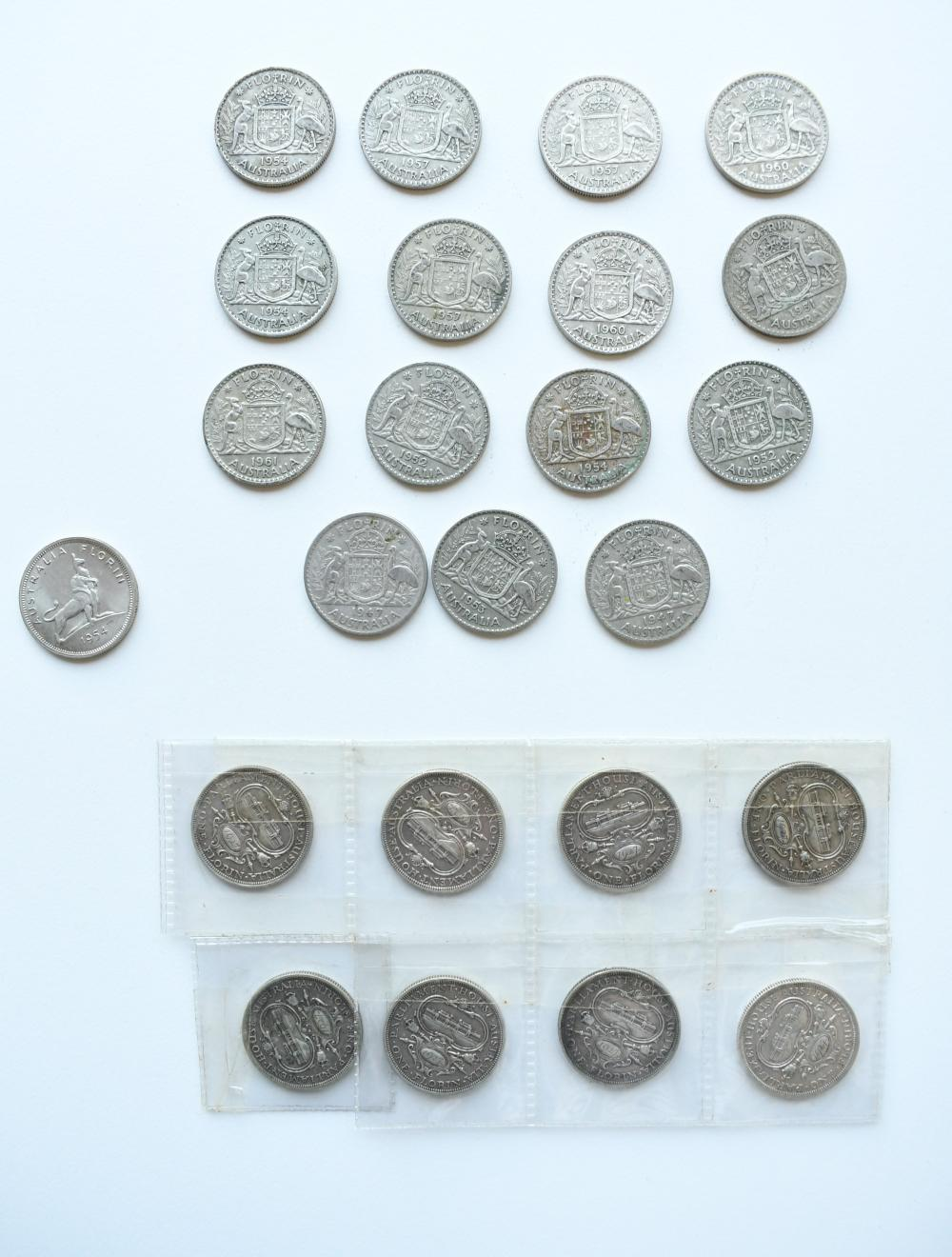 Collection of 24 Australian Florins