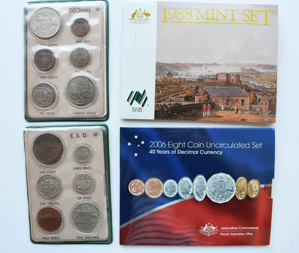 4 Australian uncirculated coin sets