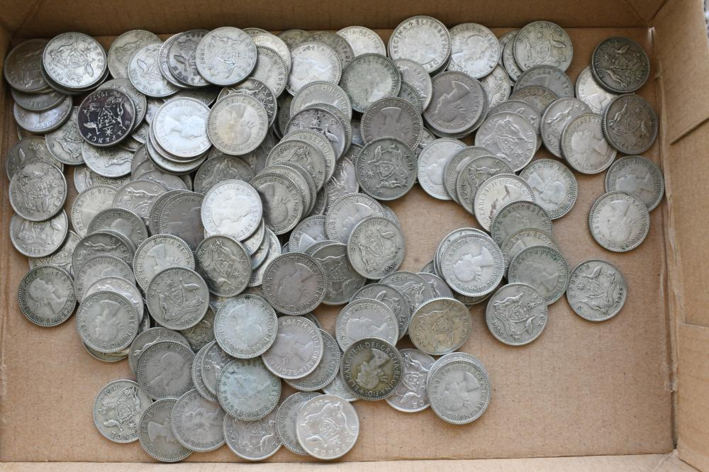 Approx. 174 Australian sixpence coins