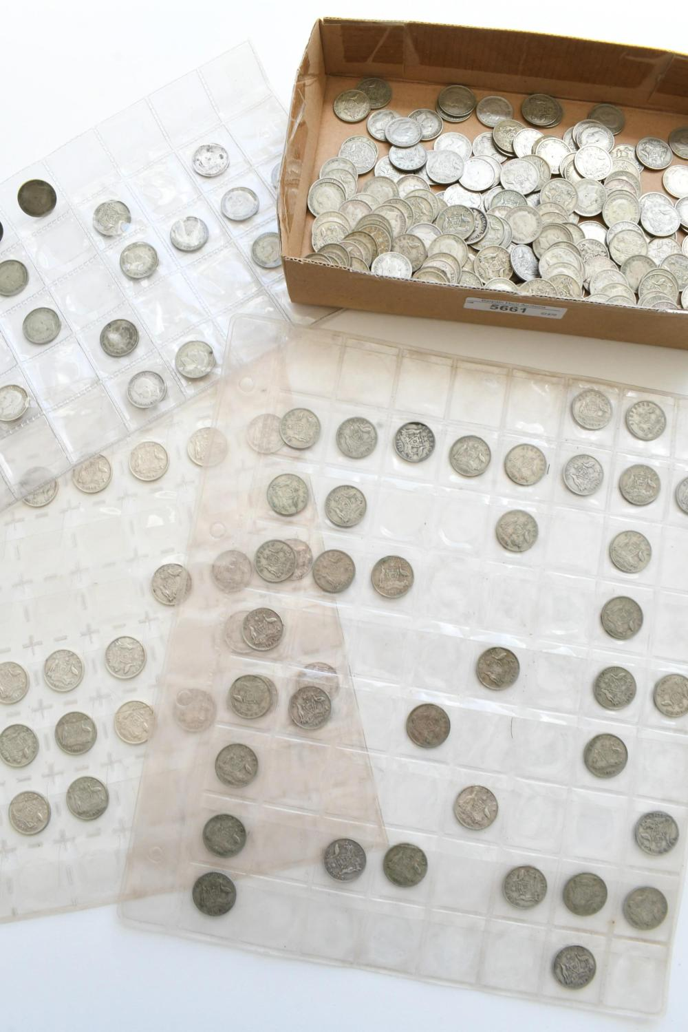 Approx. 252 Australian sixpence coins