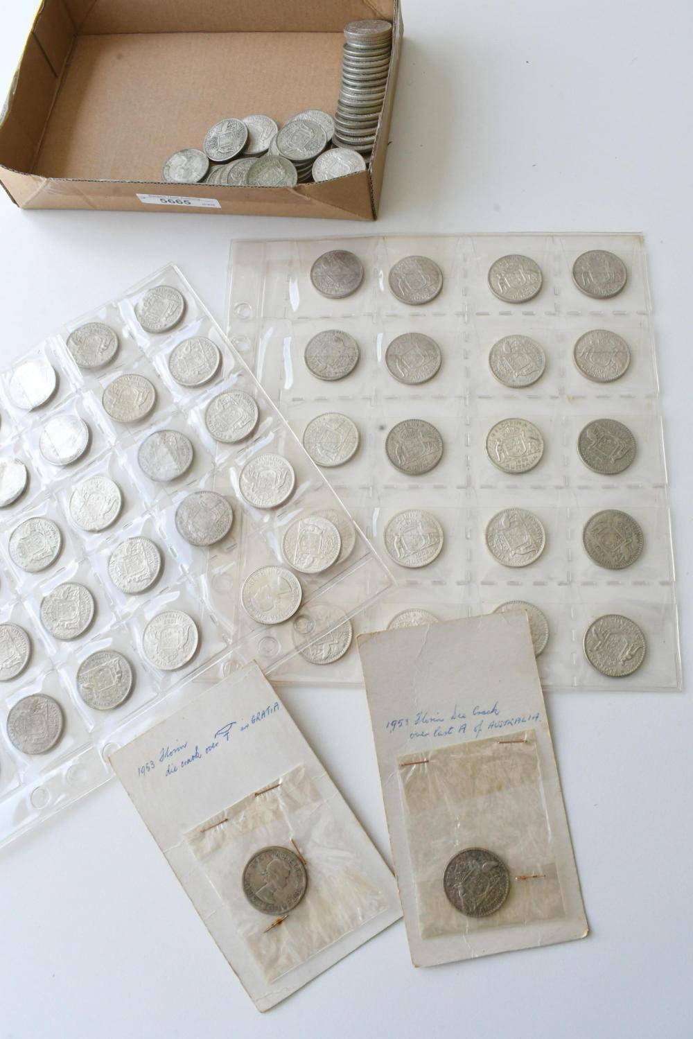 Approx. 105 Australian Florin coins