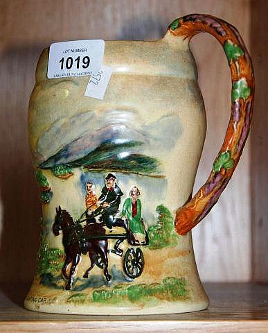 Vintage Crown Devon musical tankard 'Killarney' in