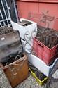 9 x crates containing a large quantity of antique