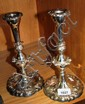 Good pair of vintage candlesticks silver plate on
