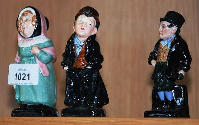 3 Royal Doulton figurines, characters from Dickens