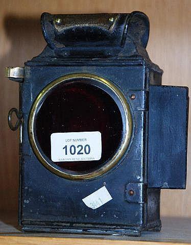 Vintage Oldfield 'Dependence' motoring lamp,