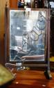 A vintage dressing table toilet mirror, Regency