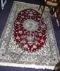 Good quality hand woven Persian Nain rug silk &