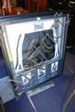 Framed pair of Everlast boxing trunks, bearing 3