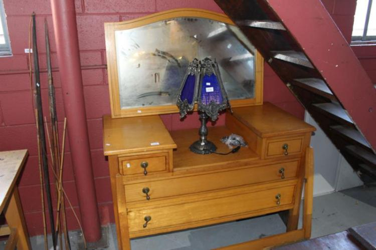 Qld Maple Dressing Chest Mirror Bqck
