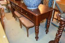 Mahogany hall / sofa table