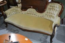 Antique chaise lounge,