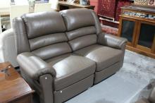 Moran 3 piece leather lounge suite,