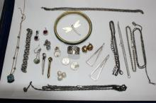 Qty of jewellery incl. silver and silver plated