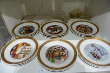 Set of 12 Royal Copenhagen display plates