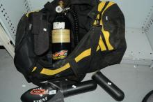 Collection of paintball items,