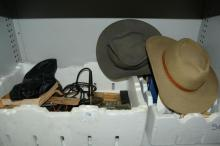 Box of collectables incl. oil cans,