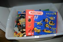 Large qty of Lego plus boxed Meccano kit