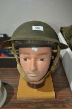 Vintage original WWII era helmet, English example